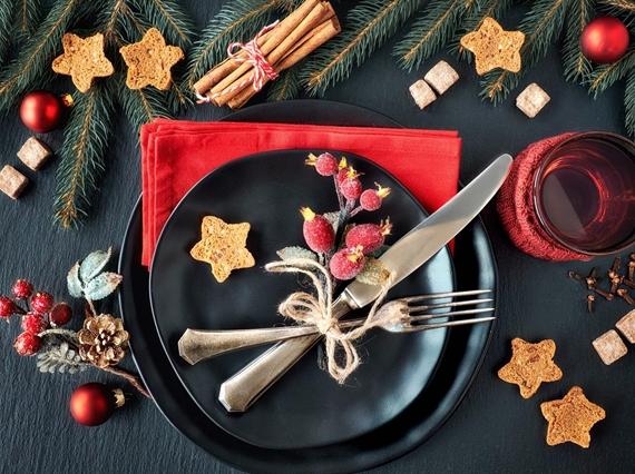 Christmas themed plate