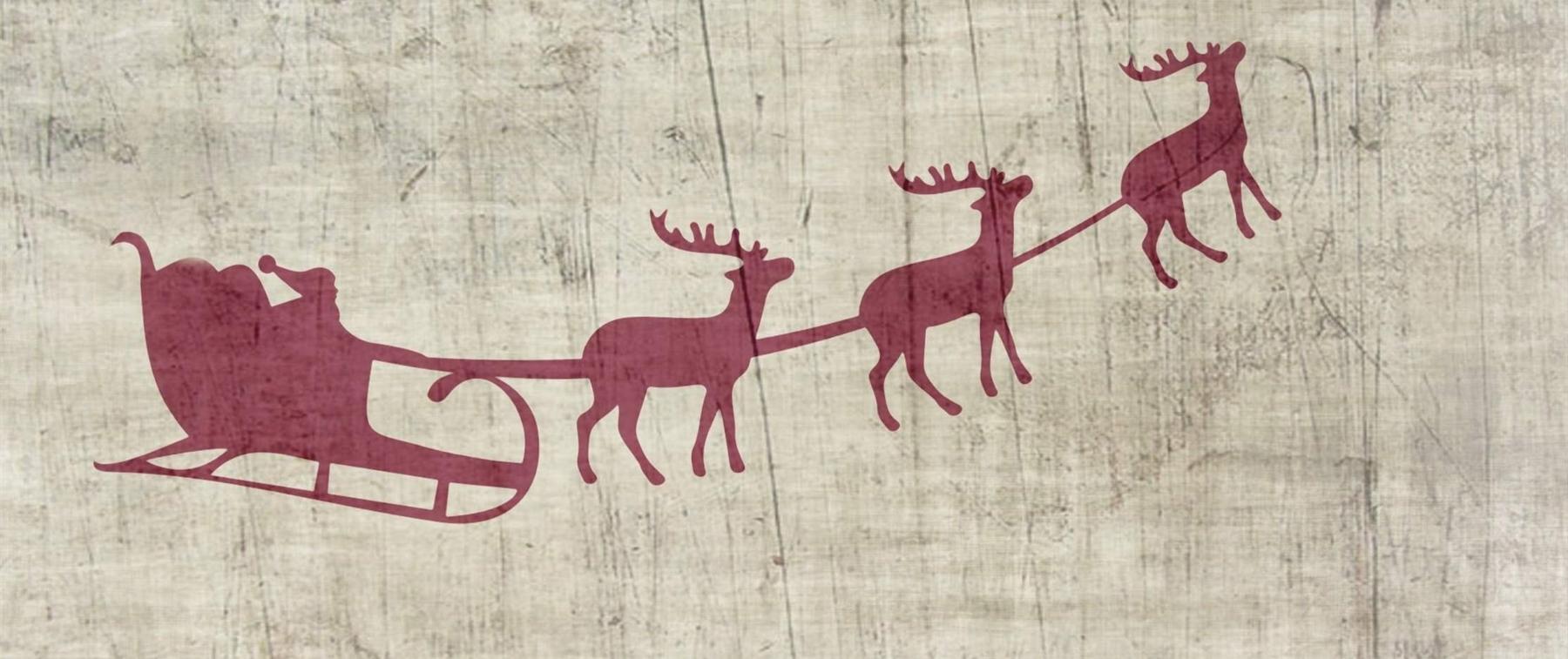 Santa sleigh with reindeers